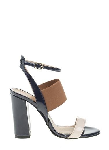 D by Divarese Kalın Topuklu Ayakkabı Lacivert